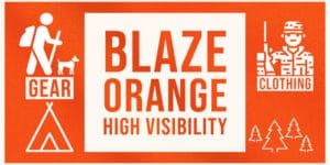 hunter blaze orange high visibility safety hiking hunting outdoor clothing gear