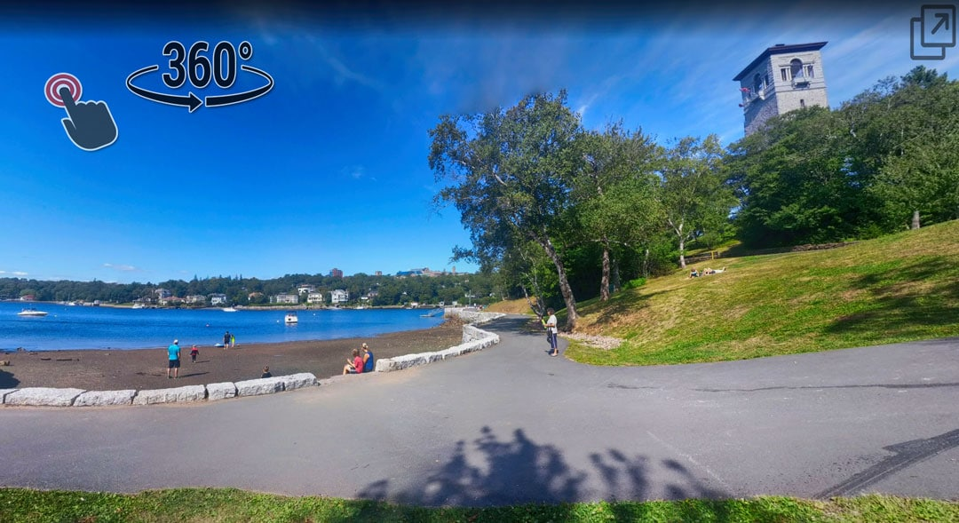 Sir Sandford Fleming Park Dingle Halifax Nova Scotia swimming beach playground frog pond