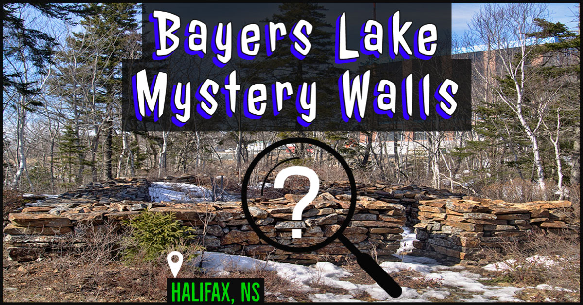 The Bayers Lake Mystery Walls in Halifax, NS