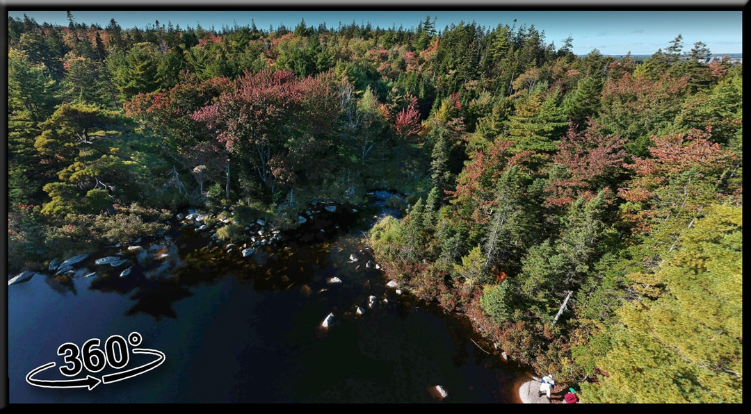 Hobsons Lake Hiking Trail in Halifax's Blue Mountain-Birch Cove Lakes, Nova Scotia