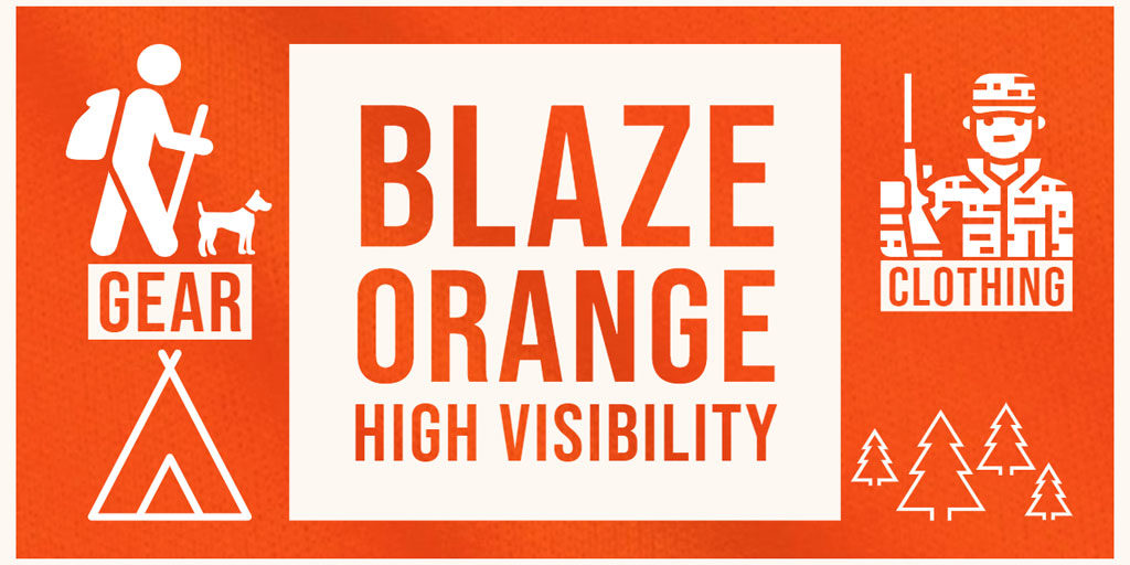 hunter blaze orange high visibility clothing outdoor hiking gear